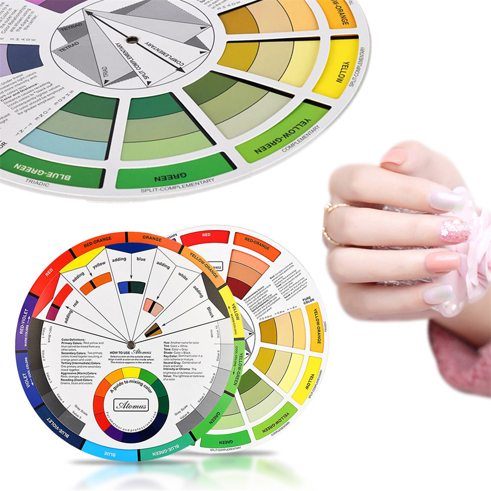 Tattoo Supplies Color Wheel Ink Chart Paper Accessories Professional Tattoo Equipment Pigments Wheel Swatches Permanent Makeup