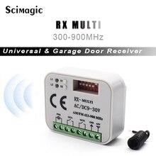 3 pces 433mhz 868mhz 315mhz 2 ch controle remoto sem fio ac/dc 9 30v interruptor relé receptor para porta de garagem portão elétrico