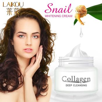 LAIKOU Snail Whitening Face Cream Anti-Acne Lightening Repair Skin Moisturizing Oil Control Day Cream For Face Skin Care Serum недорого