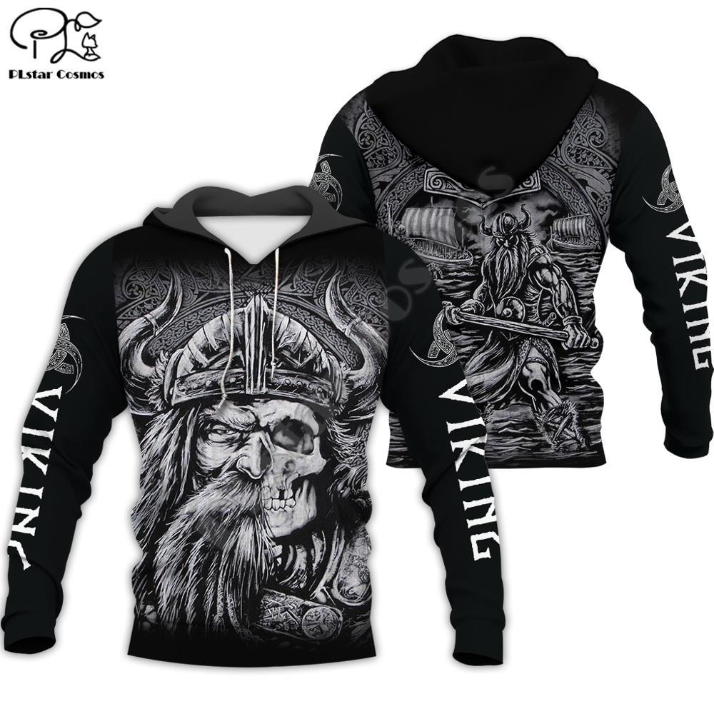 PLstar Cosmos Viking Warrior Tattoo New Fashion Tracksuit Casual 3DfullPrint Hoodie/Sweatshirt/Jacket/Mens Womens Style-7