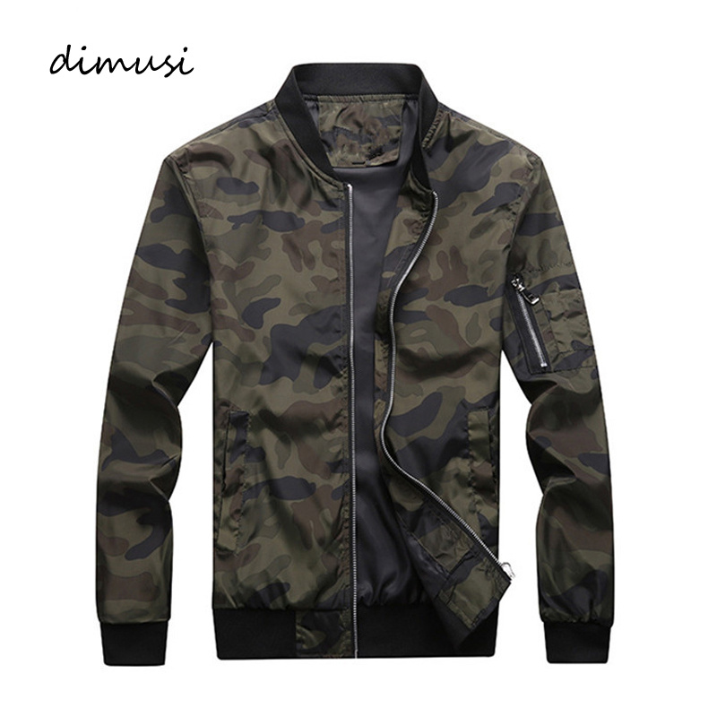 DIMUSI Spring Autumn Men's Camouflage Jackets Male Coats Camo Bomber Jacket Man Outwear Windbreaker Baseball Coats Clothing 7XL