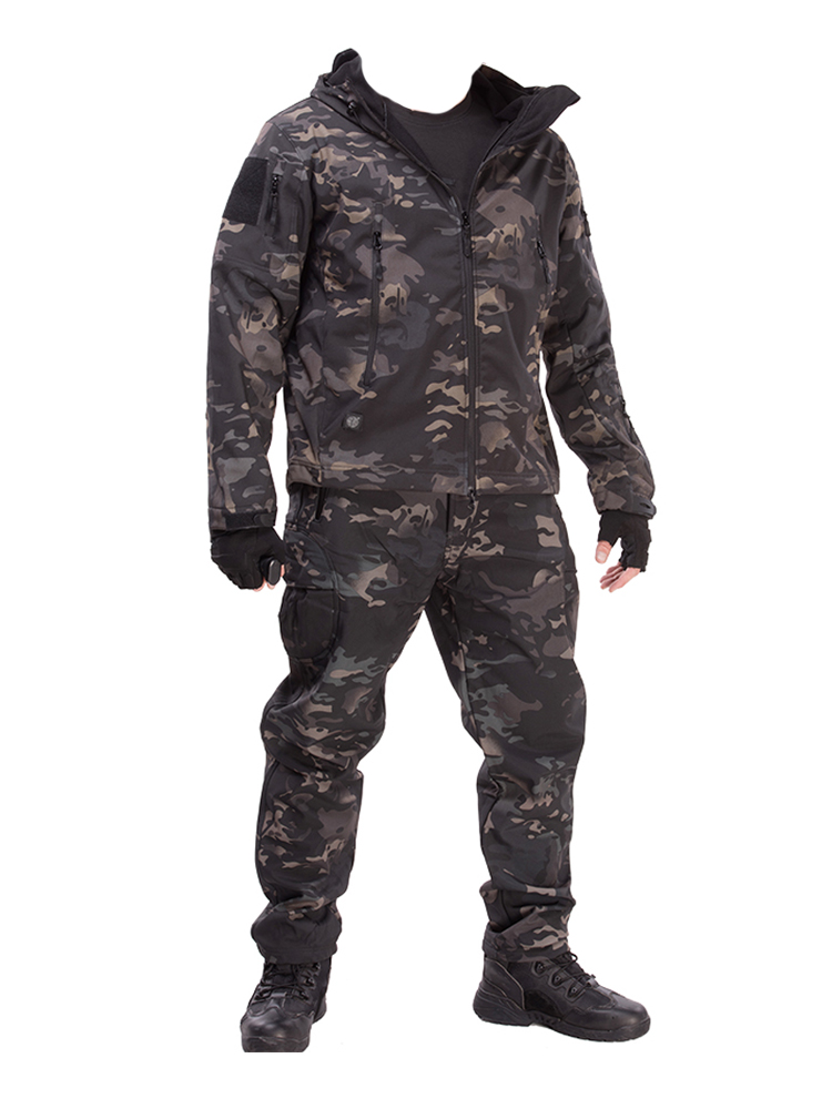 Waterproof Jacket Windbreaker Shark-Skin Softshell Military Hiking Winter Camping Hunt