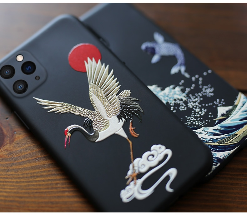 3D Art Relief Matte Soft Back Cover Case for iPhone 12 Pro Max  1