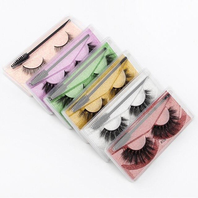 Wholesale Eyelashes 5/30/40/150pcs Fluffy 3d Mink Lashes Natural Makeup False Lashes Flase Eyelashes Set with Cosmetic Brushes 4