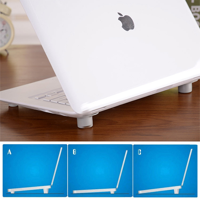 Notebook Accessory Portable Laptop Cooling Stand Notebook Skidproof Pads Heat Reduction Feet Mat Cool Holder For Macbook Air Pro