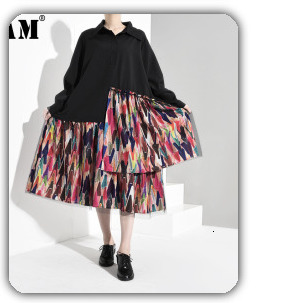 [EAM] 2020 New Spring Lapel Long Sleeve Solid Color Black Gray Split Joint Loose Big Size Jacket Women Fashion JC969 79