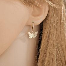 Женские серьги бабочки с кристаллами yada подвески золотого
