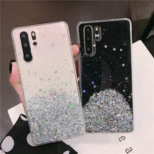 Glitter Gold Foil Sequins Soft Clear Silicone TPU Case For Xiaomi Mi A1 A2 A3 8 SE 9T 9 Lite Redmi Note 5 6 7 7A 8 K20 Pro Cover(China)