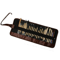 30pcs/Set Carving Kit Pottery Clay Sculpture Modelling Wax Carving Pottery Ceramic Tools Multifunctional DIY Clay Craft