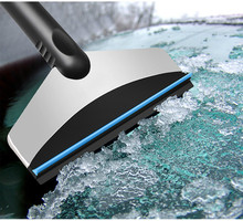 Winter Car Rubber Handle Stainless Steel Ice Scraper Windshield Removal Tool Car Snow Remover Windscreen Scraper Rascador