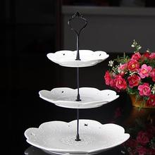 Limit Cake Rack 3 Tier Plastic Stand Afternoon Tea Wedding Plates Party Tableware New Bakeware Shop Layer