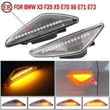 2pcs For BMW X6 E71 E72 2008 2014 Dynamic Side Marker Turn Signal Lights Turn Light Amber Led Blinker LED Light