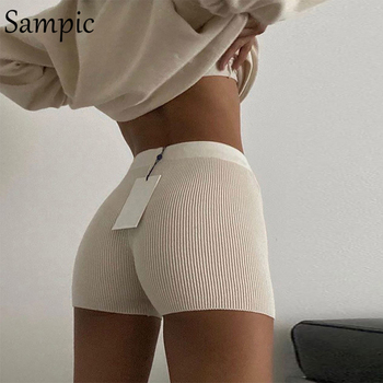 berge womens high waisted shorts knitted cotton sweat shorts