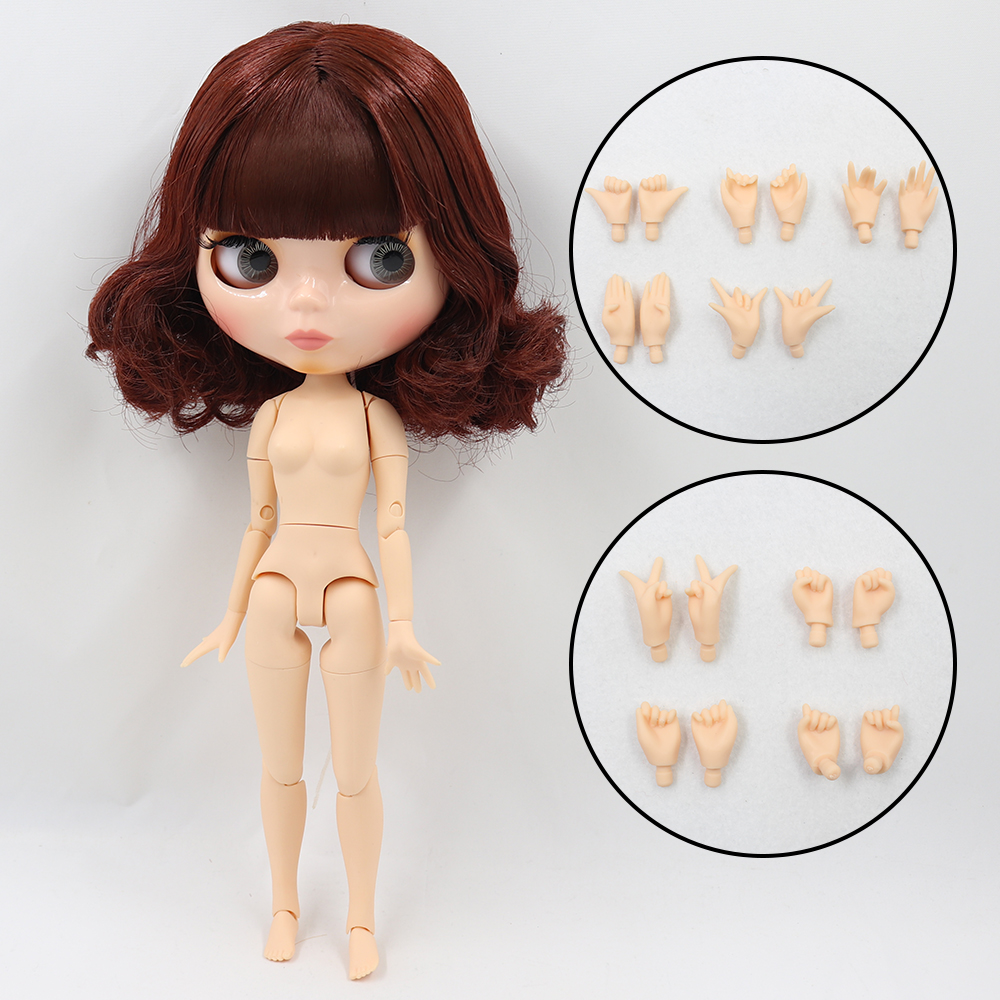 ICY DBS Blyth doll 1/6 bjd toy natural skin shiny face short hair joint body 30cm girls gift special offer 19