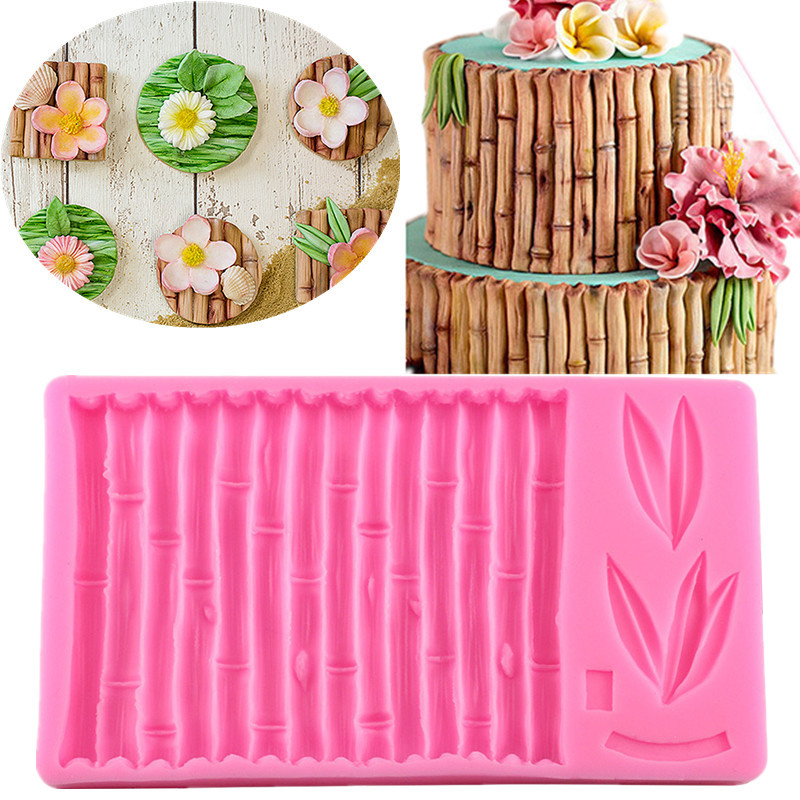 Bamboo Slub Ruffle Molds Flower Silicone Mould For 3D Cake Border Decorating Tools Chocolate Gumpaste Fimo Forms Baking Kitchen