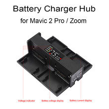 4 in 1 Battery Charging Hub For DJI Mavic 2 Pro Zoom Drone Portable Intelligent Charger Band LED Digit Display Accessories