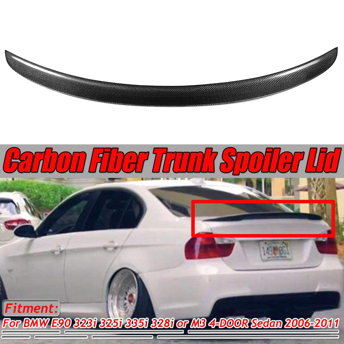 Unpainted For BMW 3-Series E90 4DR Trunk M-Teach Type Spoiler Wing 335i 328i