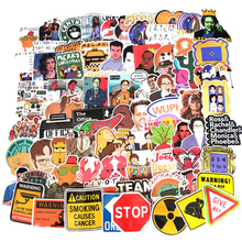 210Pcs Friends show the OFFICE TV SHOW funny Creative badges Waterproof Fun Stickers DIY Toys Luggage Motorcycle Label Sticker