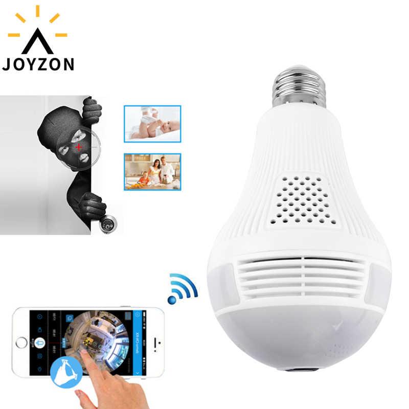 جويزون مصباح ليد 1080P لاسلكي بانورامي أمن الوطن واي فاي CCTV فيش لمبة مصباح IP كاميرا 360 درجة أمن الوطن لص