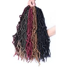 Nu Locs Crochet Braid Faux Locs Crochet Hair 18Inch 21 stran