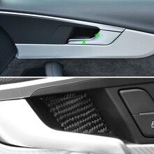 Auto Koolstofvezel Deurklink Panel Deur Kom Cover Sticker Trim Voor Audi A4 B9 A4L 2017 2018