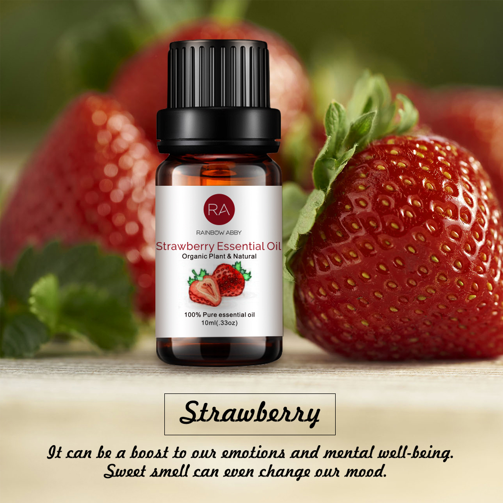 100% Natural Strawberry aromatherapy essential oils Aroma Lamps Office Office Humidifiers Automotive Perfume Replenisher
