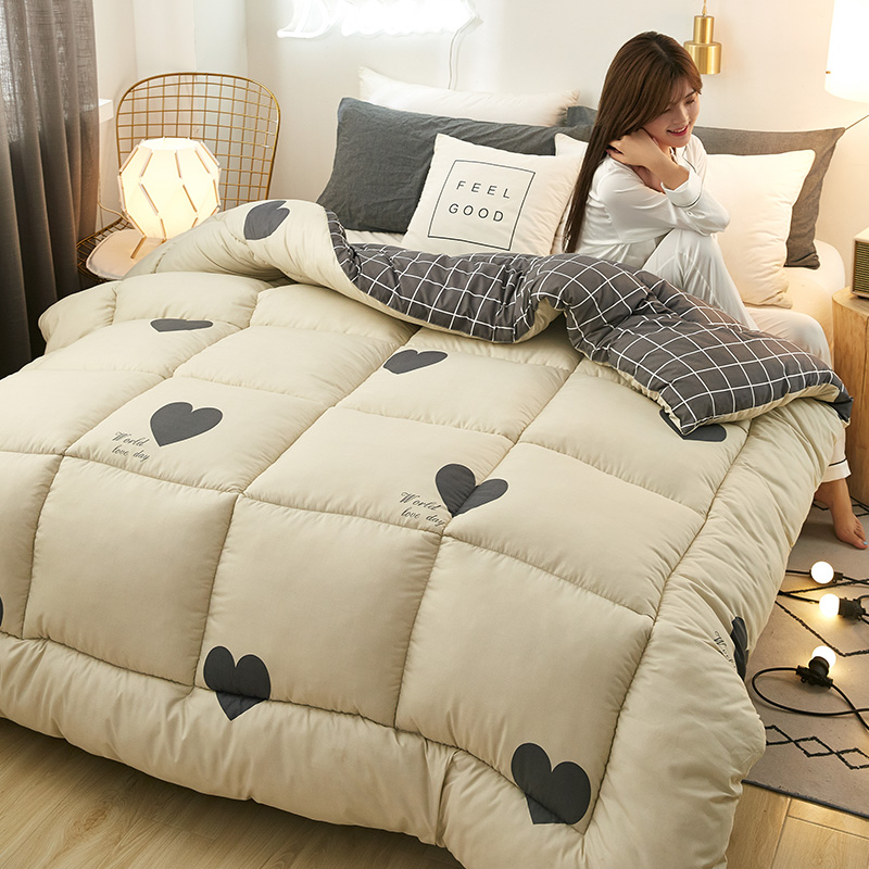 New Fashion Cartoon Printting Warm Thickened Washed Blanket Soft Quilt Thickening Winter Comforters 180x220cm Winter Quilt CF