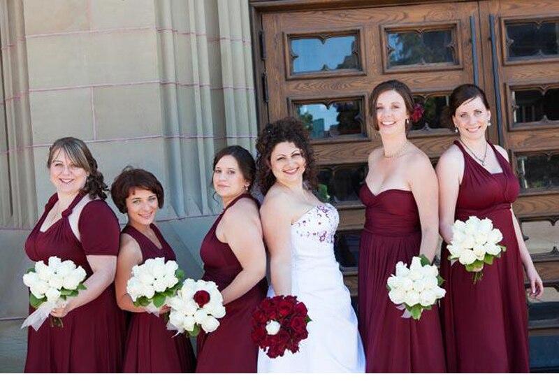 Bridesmaid Dresses Burgundy Long Infinity Dress Convertible Bridesmaid Dress Multiway Wrap Wedding Party Dress
