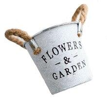 Flower-Pot Letters-Design Iron Retro-Decor Desktop Balcony Garden Metal Vintage Photo-Props