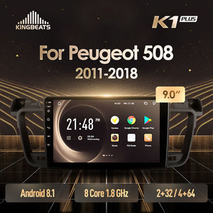 KingBeats Android 8.1 Octa-Core head unit 4G in Dash Car Radio Multimedia Video Player Navigation GPS For Peugeot 508 2011 2018