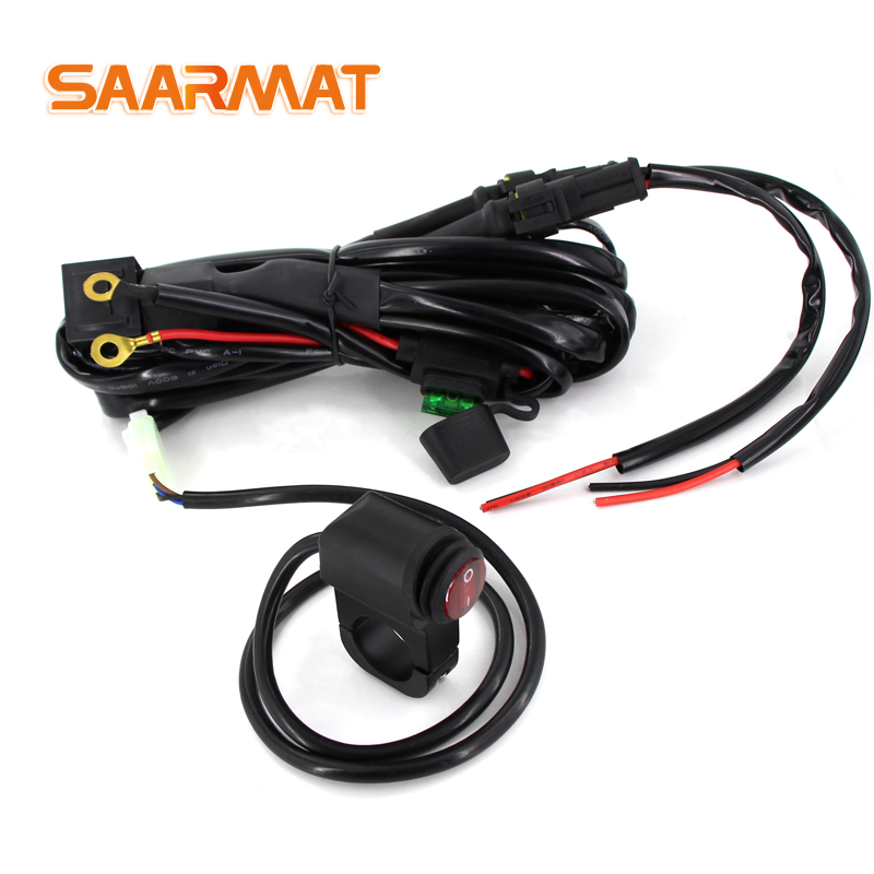Motorcycles LED Headlights Wiring Harness Relay Wire 12v 24v 15A For  BMW R1200 GS /ADV F800GS  Offroad Motorcycle Fog Led Light