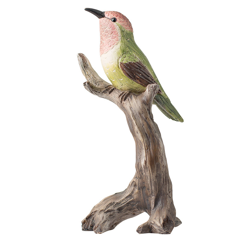 Pop Art créatif rétro peinture à la main Jungle oiseau beaux ornements Mini décoration maison artisanat meilleur cadeau
