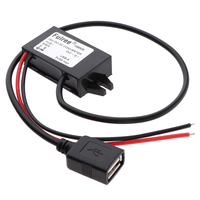 DC DC Voltage Converter Regulator Power Step Down Module From DC 8 60V to DC 5V 3A 15W Power Buck Transformer (USB Connector) Car Inverters     -
