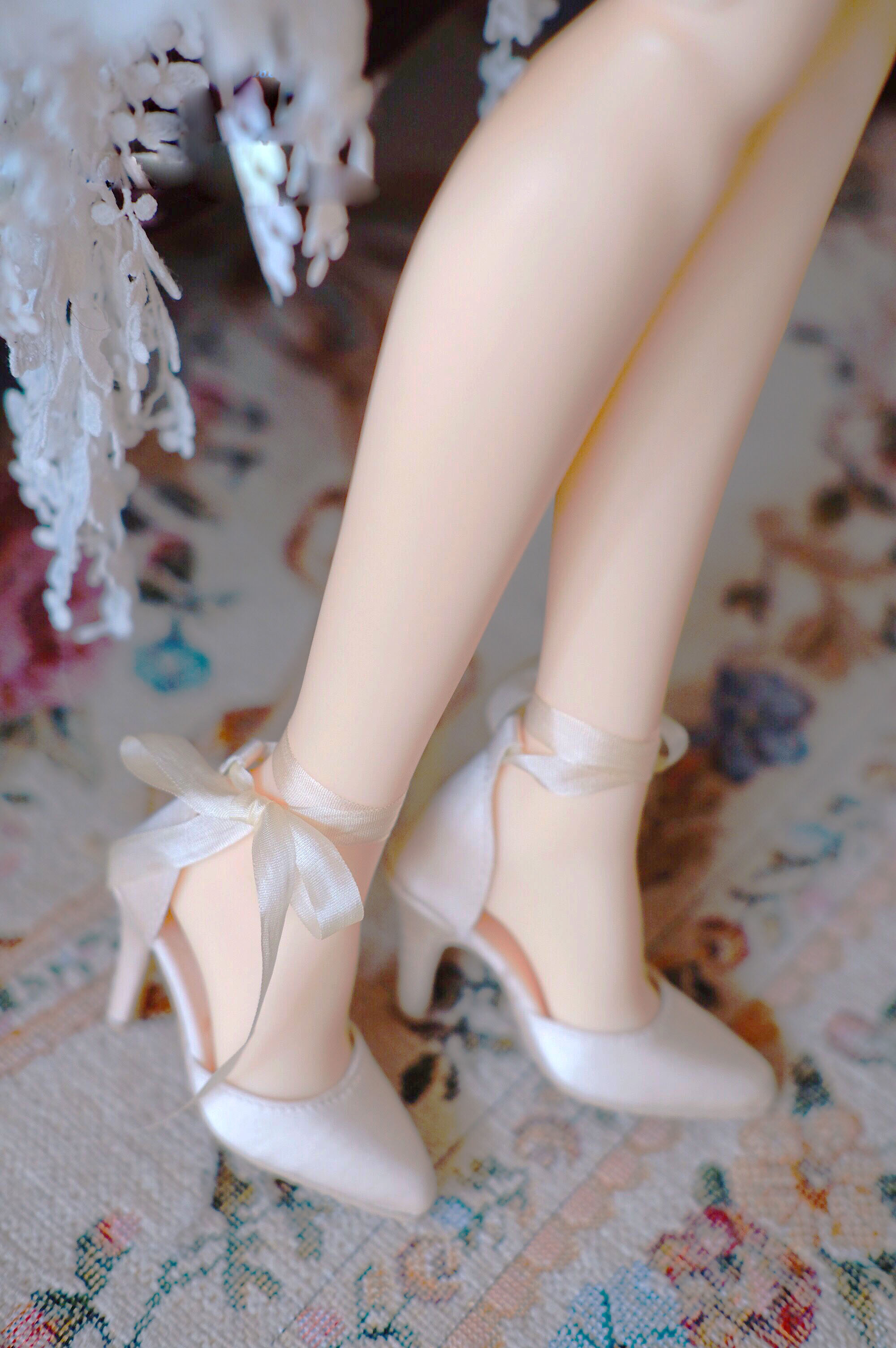 BJD Doll Shoes Are Suitable For SDGR SD16 1/3 Female Size Sexy Silk Strap With Two High Heels Doll Accessories