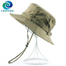 CAMOLAND UPF 50+ Summer Sun Hat For Women Men Outdoor UV Protection Fishing Hiking Caps Male Casual Bucket Beach Cap