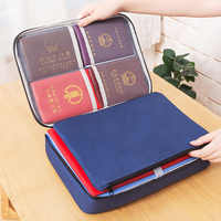 New Document Ticket Storage Bag Waterproof Large Capacity Certificates Files Organizer for Home Office Travel Filing Products