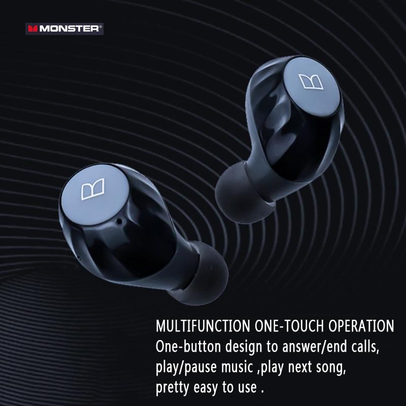 Monster bluetooth 5.0 fones de ouvido tws