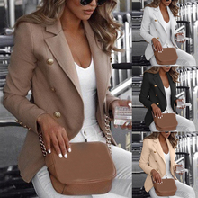 Women Formal Blazer Cardigan Jackets Office Work L