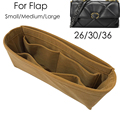 Для классического клапана 26 30 36 сумка-Органайзер для вкладышей сумочка-Премиум Бархат очень мягкая ткань (ручная работа/20 цветов