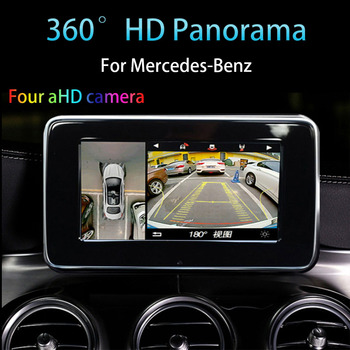 Car Real-time Witness Security Surveillance Camera 360-Degree for Mercedes GLE with Regular Original Factory Monitor NAV System