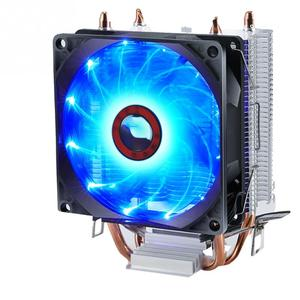 Double Heat Pipe CPU Cooler Silent Radiator Universal Hydraulic Bearing Aluminum Professional Desktop Computer Easy Install Fan