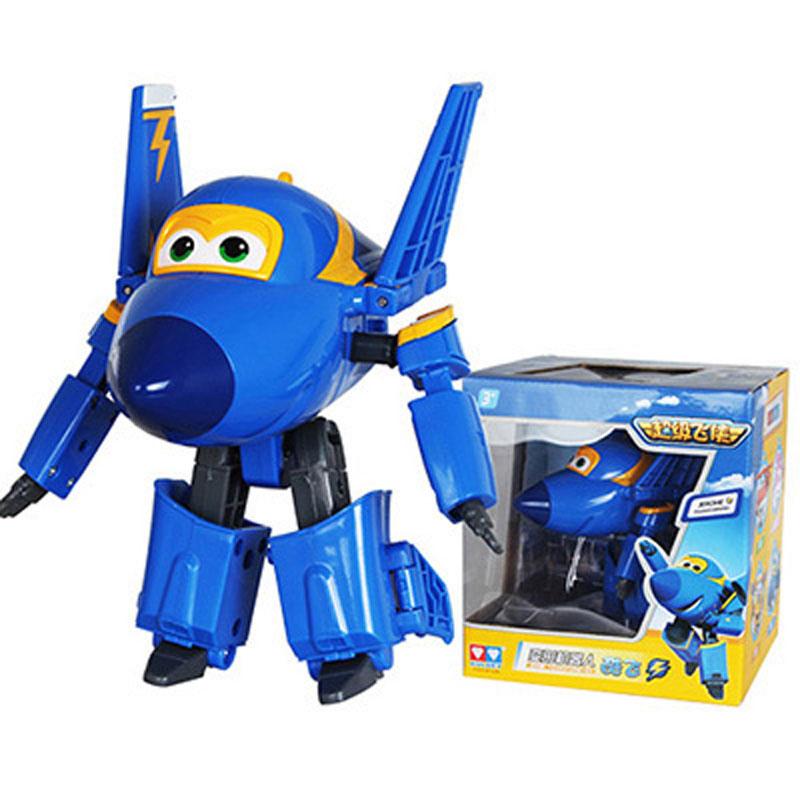 Большой! 15 см ABS Супер Крылья деформация самолет робот фигурки Супер крыло Трансформация игрушки для детей подарок Brinquedos - Цвет: With Box JEROME