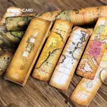 30pcs/box Retro Nautical Chart Paper Bookmarks Books Message Cards Bookmark Gift Book Markers Stationery