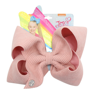 "Image 5 - CN 8 Pcs/lots 7 ""Jojo קשתות עבור בנות/Jojo סיווה גדול מוצק קטיפה/קורדרוי שיער קשתות קשת קשר שיער קליפים שיער אבזרים"