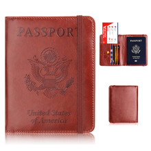 RFID Blocking Passport Cover PU Leather Passport Holder Case UNITED STATES OF AMERICA Travel Credit Card Holder i love london pattern pu leather passport holder red white blue