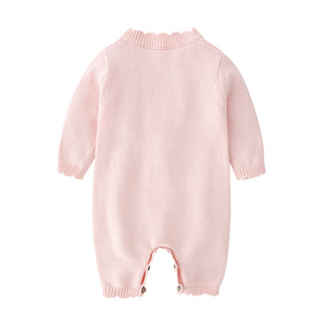 Image 3 - 2019 Spring New Spring And Autumn Outfit Coat Cute Baby Girls Long Sleeve Bodysuit Kids Girls Knitting Costumes For Girls Kids