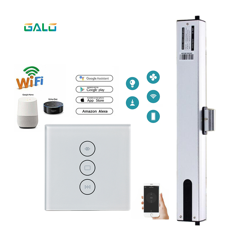 A-OK Electric Window Opener 4 Wires Motor With Tuya WiFi Curtain Blinds Switch Google Home Amazon Alexa Echo Voice Control