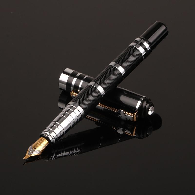1pcs Classic Design Student Fountain Pen Business Gift Luxury Metal Pen 2019 New Fountain Pen