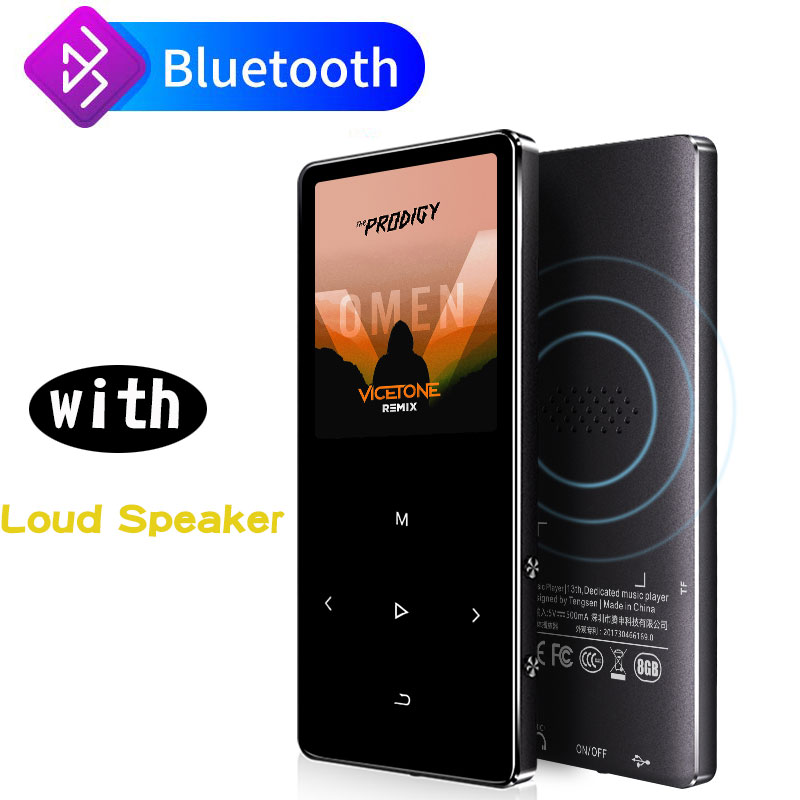 IQQ New Bluetooth 4.1 Version X2 Thin MP3 Player With Speaker Touch Screen And Built-in 40G HiFi Portable Walkman With FM/Record