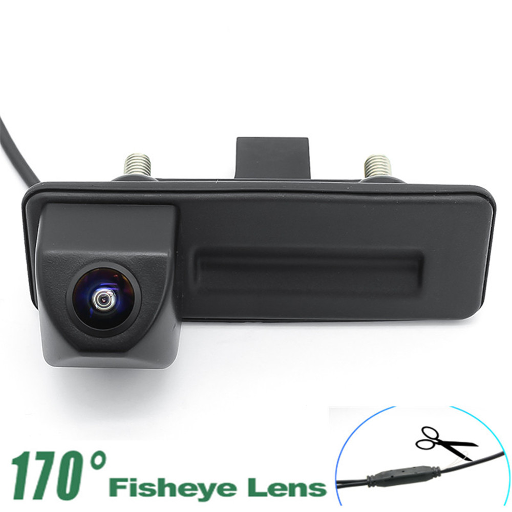 1080P Reverse Parking Car Rear View Camera Trunk Handle For Volkswagen Skoda Fabia Octavia Yeti RoomsterAudi A1 A3 Car Camera